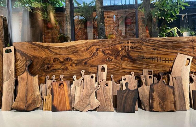 Разделочные доски из морёной древесины